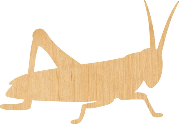 Grasshopper Wooden Laser Cut Out Shape - Great for Crafting - Hobbyist - D.I.Y. Projects