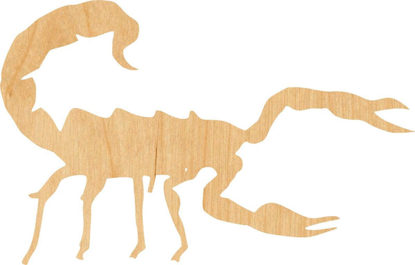 Scorpion 1 Wooden Laser Cut Out Shape - Great for Crafting - Hobbyist - D.I.Y. Projects
