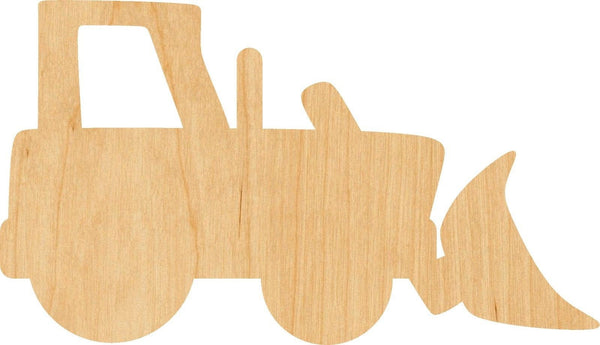 Bulldozer Wooden Laser Cut Out Shape - Great for Crafting - Hobbyist - D.I.Y. Projects
