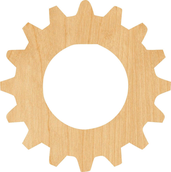 Gear 8 Wooden Laser Cut Out Shape - Great for Crafting - Hobbyist - D.I.Y. Projects