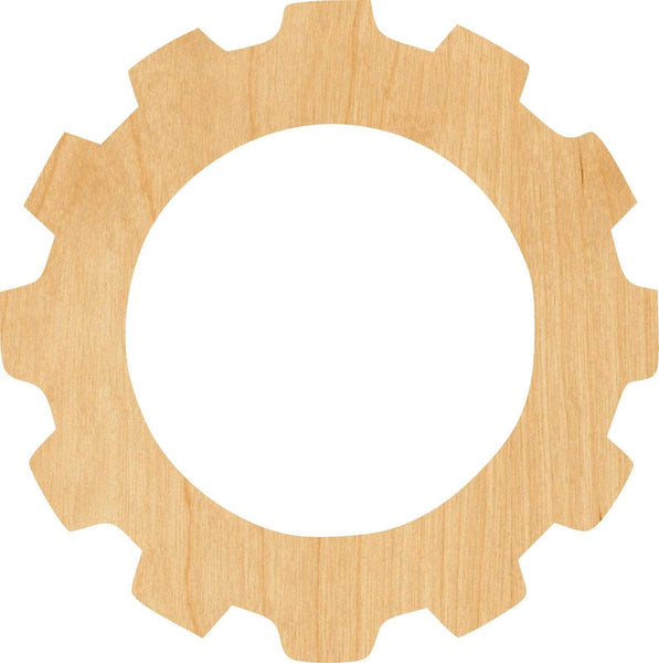 Gear 12 Wooden Laser Cut Out Shape - Great for Crafting - Hobbyist - D.I.Y. Projects