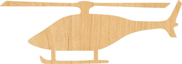 Helicopter Wooden Laser Cut Out Shape - Great for Crafting - Hobbyist - D.I.Y. Projects