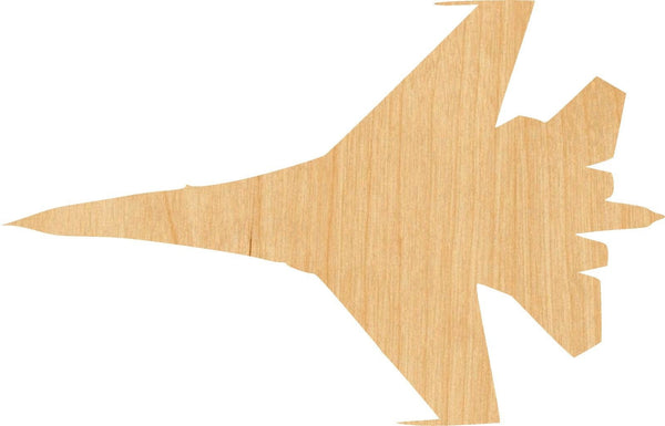 Jet Fighter 1 Wooden Laser Cut Out Shape - Great for Crafting - Hobbyist - D.I.Y. Projects