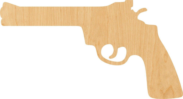 Revolver Wooden Laser Cut Out Shape - Great for Crafting - Hobbyist - D.I.Y. Projects