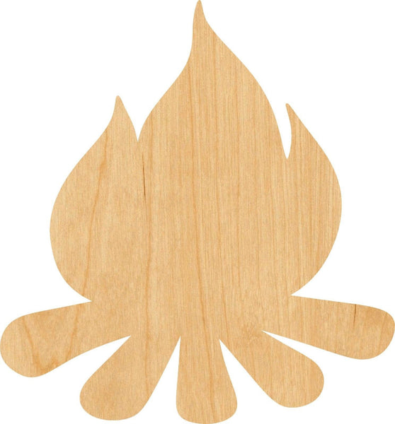 Campfire Wooden Laser Cut Out Shape - Great for Crafting - Hobbyist - D.I.Y. Projects