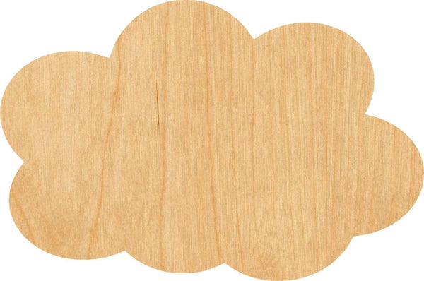 Cloud 2 Wooden Laser Cut Out Shape - Great for Crafting - Hobbyist - D.I.Y. Projects
