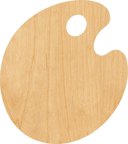 Paint Palette Wooden Laser Cut Out Shape - Great for Crafting - Hobbyist - D.I.Y. Projects