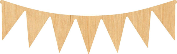 Pennant Banner Wooden Laser Cut Out Shape - Great for Crafting - Hobbyist - D.I.Y. Projects