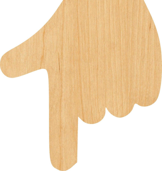 Pointing Finger Wooden Laser Cut Out Shape - Great for Crafting - Hobbyist - D.I.Y. Projects