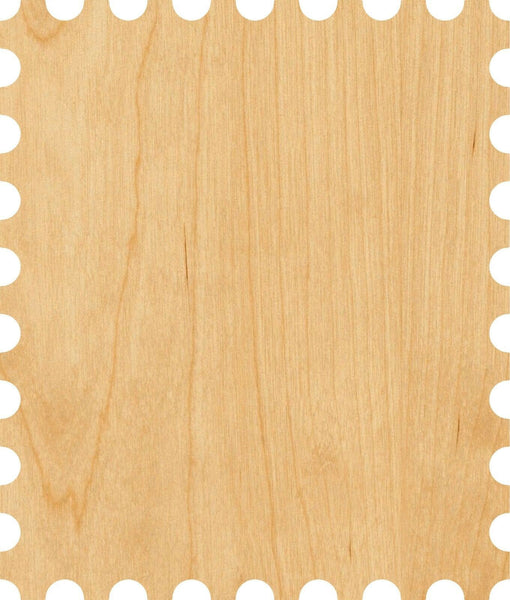 Postage Stamp Wooden Laser Cut Out Shape - Great for Crafting - Hobbyist - D.I.Y. Projects