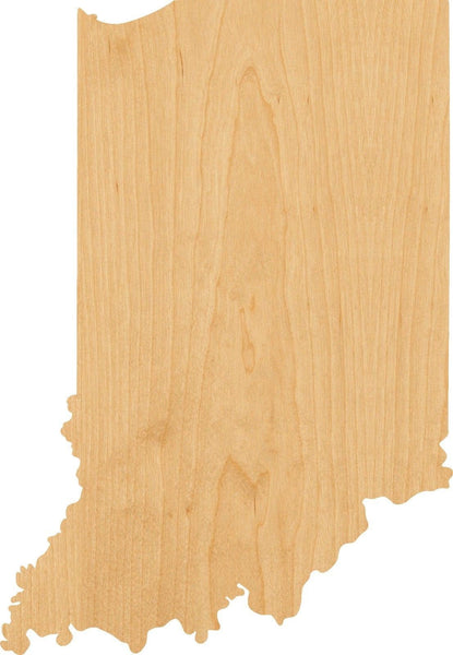 Indiana Wooden Laser Cut Out Shape - Great for Crafting - Hobbyist - D.I.Y. Projects