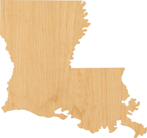 Louisiana Wooden Laser Cut Out Shape - Great for Crafting - Hobbyist - D.I.Y. Projects