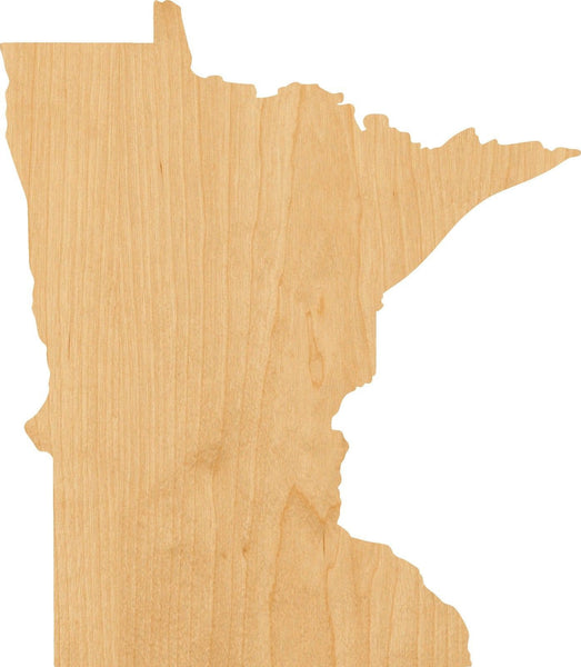 Minnesota Wooden Laser Cut Out Shape - Great for Crafting - Hobbyist - D.I.Y. Projects
