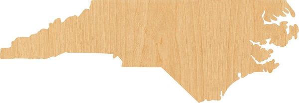 North Carolina Wooden Laser Cut Out Shape - Great for Crafting - Hobbyist - D.I.Y. Projects