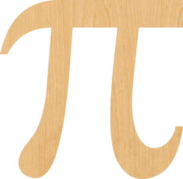 Pi Symbol Wooden Laser Cut Out Shape - Great for Crafting - Hobbyist - D.I.Y. Projects
