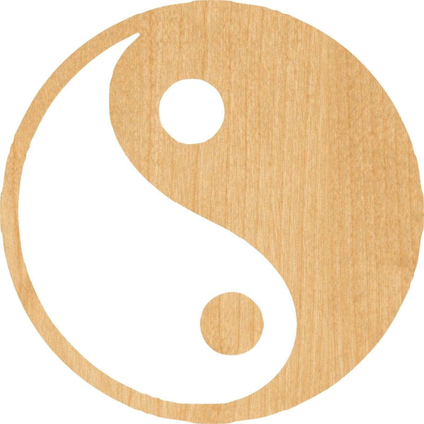 Ying Yang Wooden Laser Cut Out Shape - Great for Crafting - Hobbyist - D.I.Y. Projects