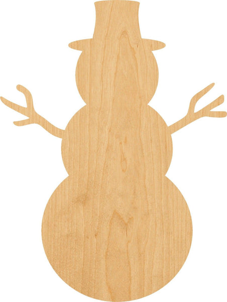 Snowman 2 Wooden Laser Cut Out Shape - Great for Crafting - Hobbyist - D.I.Y. Projects