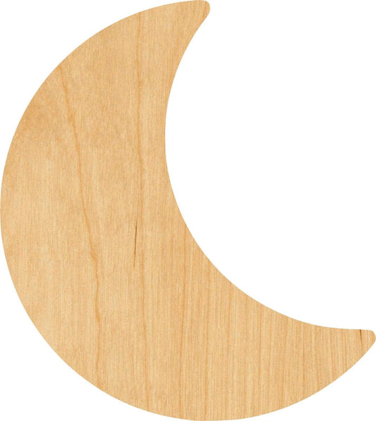 Moon 3 Wooden Laser Cut Out Shape - Great for Crafting - Hobbyist - D.I.Y. Projects