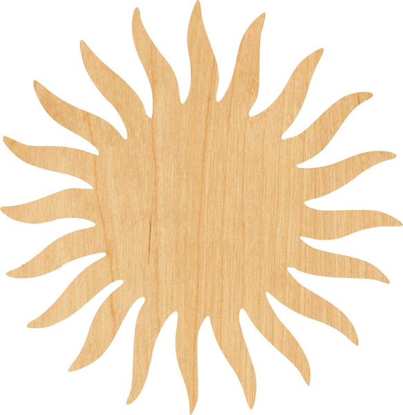 The Sun 3 Wooden Laser Cut Out Shape - Great for Crafting - Hobbyist - D.I.Y. Projects
