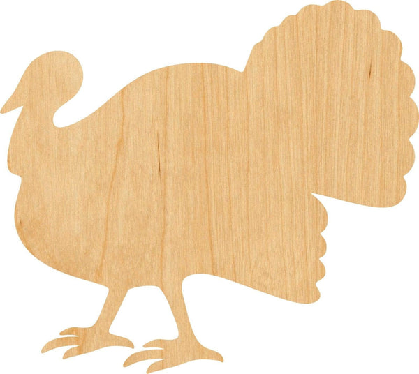 Turkey Wooden Laser Cut Out Shape - Great for Crafting - Hobbyist - D.I.Y. Projects