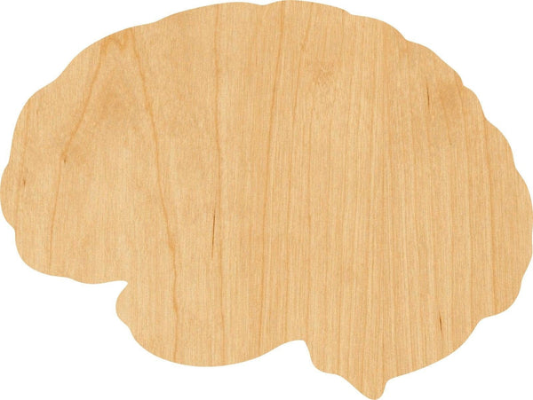 Brain Wooden Laser Cut Out Shape - Great for Crafting - Hobbyist - D.I.Y. Projects