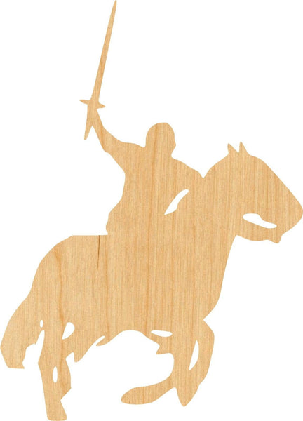 Knight On Horse 2 Wooden Laser Cut Out Shape - Great for Crafting - Hobbyist - D.I.Y. Projects