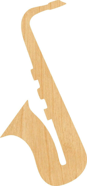 Saxophone 1 Pick Wooden Laser Cut Out Shape - Great for Crafting - Hobbyist - D.I.Y. Projects