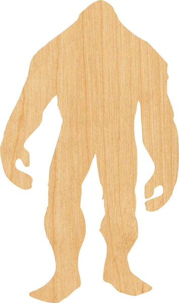 Bigfoot 1 Pick Wooden Laser Cut Out Shape - Great for Crafting - Hobbyist - D.I.Y. Projects