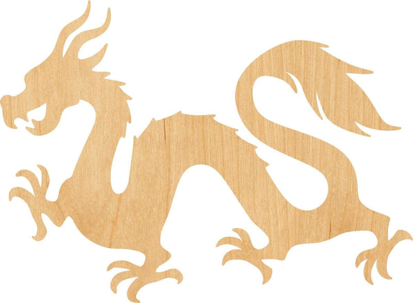 Chinese Dragon Pick Wooden Laser Cut Out Shape - Great for Crafting - Hobbyist - D.I.Y. Projects