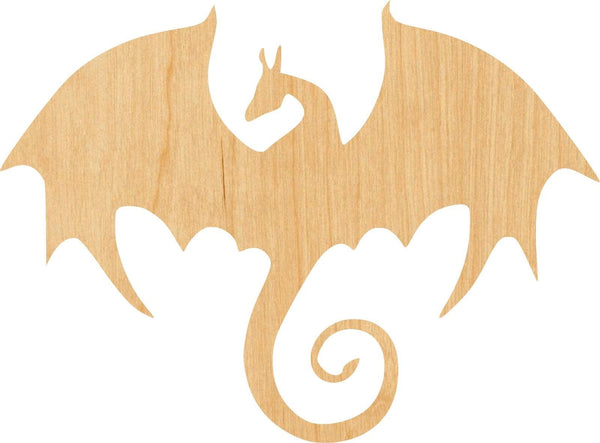 Dragon 1 Pick Wooden Laser Cut Out Shape - Great for Crafting - Hobbyist - D.I.Y. Projects