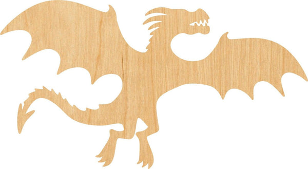 Flying Dragon Wooden Laser Cut Out Shape - Great for Crafting - Hobbyist - D.I.Y. Projects