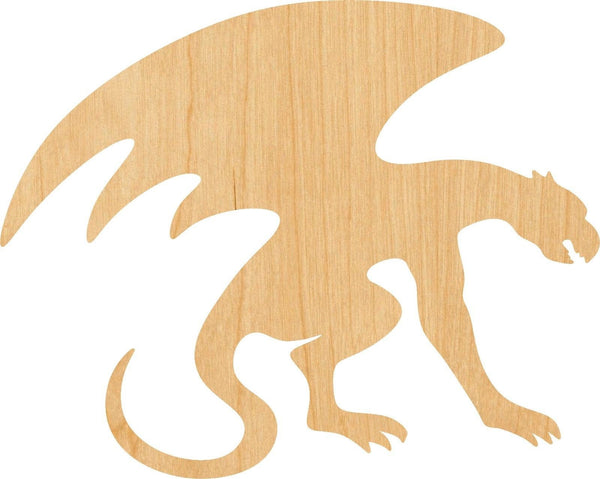 Gargoyle Wooden Laser Cut Out Shape - Great for Crafting - Hobbyist - D.I.Y. Projects
