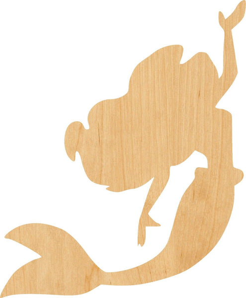 Mermaid 4 Wooden Laser Cut Out Shape - Great for Crafting - Hobbyist - D.I.Y. Projects