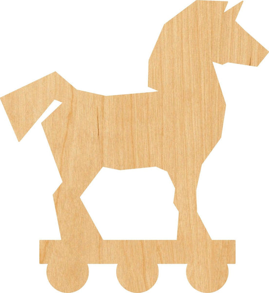 Trojan Horse Wooden Laser Cut Out Shape - Great for Crafting - Hobbyist - D.I.Y. Projects