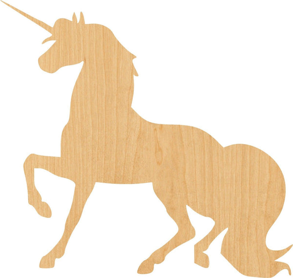 Unicorn 4 Wooden Laser Cut Out Shape - Great for Crafting - Hobbyist - D.I.Y. Projects