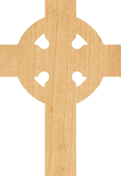 Celtic Cross 2 Wooden Laser Cut Out Shape - Great for Crafting - Hobbyist - D.I.Y. Projects