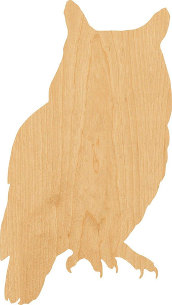 Owl Wooden Laser Cut Out Shape - Great for Crafting - Hobbyist - D.I.Y. Projects