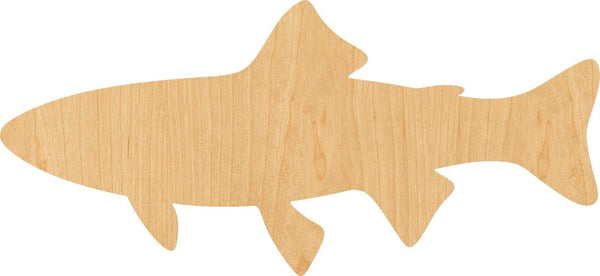 Troutt Wooden Laser Cut Out Shape - Great for Crafting - Hobbyist - D.I.Y. Projects