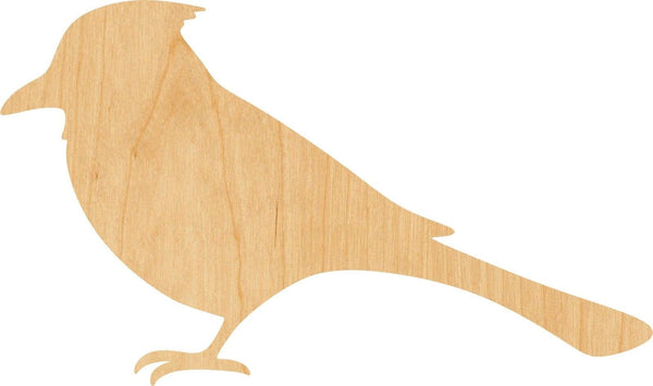 Blue Jay Wooden Laser Cut Out Shape - Great for Crafting - Hobbyist - D.I.Y. Projects