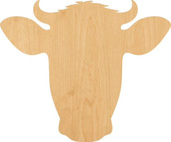 Dairy Cow Wooden Laser Cut Out Shape - Great for Crafting - Hobbyist - D.I.Y. Projects