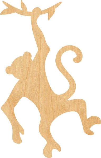 Hanging Monkey Wooden Laser Cut Out Shape - Great for Crafting - Hobbyist - D.I.Y. Projects