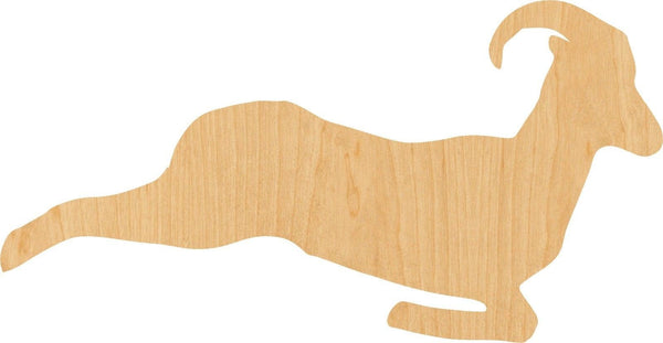 Jumping Ram Wooden Laser Cut Out Shape - Great for Crafting - Hobbyist - D.I.Y. Projects