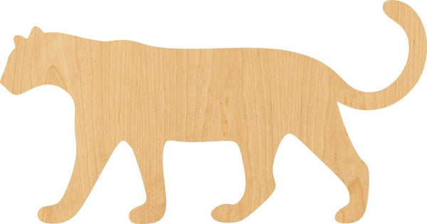 Leopard Wooden Laser Cut Out Shape - Great for Crafting - Hobbyist - D.I.Y. Projects