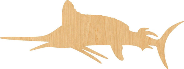 Marlin Wooden Laser Cut Out Shape - Great for Crafting - Hobbyist - D.I.Y. Projects