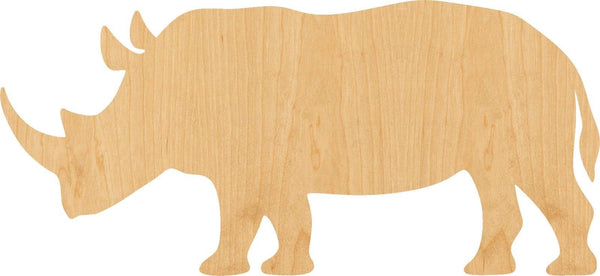 Rhinoceros Wooden Laser Cut Out Shape - Great for Crafting - Hobbyist - D.I.Y. Projects