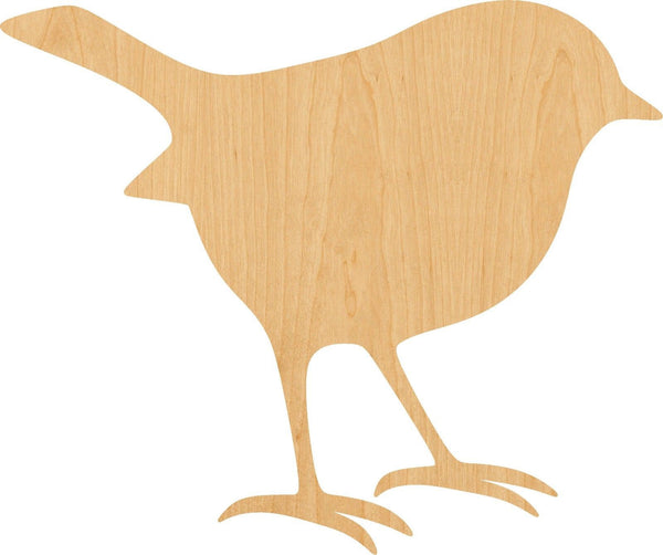 Robin Wooden Laser Cut Out Shape - Great for Crafting - Hobbyist - D.I.Y. Projects