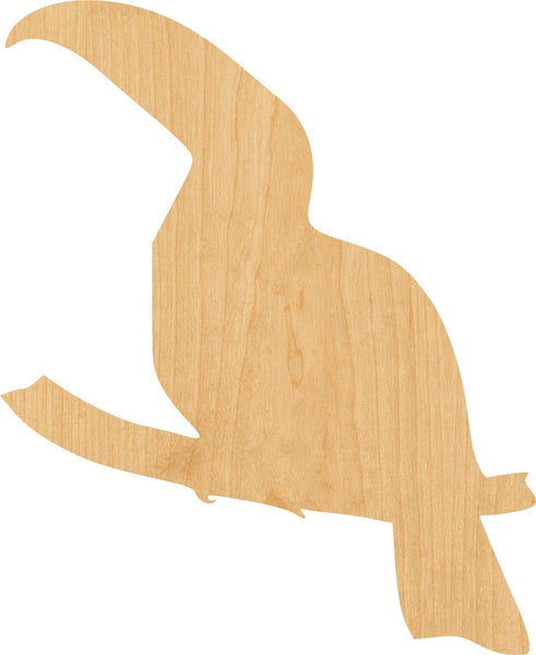 Tucan Wooden Laser Cut Out Shape - Great for Crafting - Hobbyist - D.I.Y. Projects