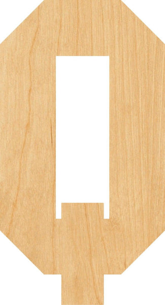 Letter Q Wooden Laser Cut Out Shape - Great for Crafting - Hobbyist - D.I.Y. Projects
