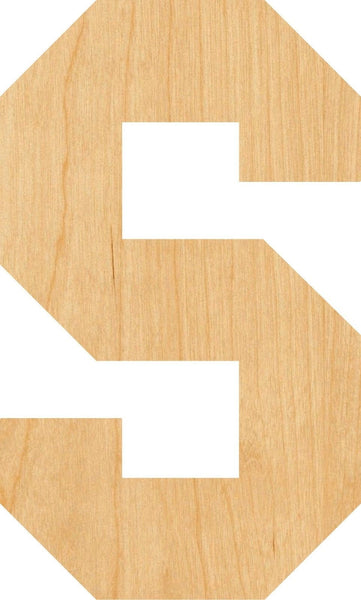 Letter S Wooden Laser Cut Out Shape - Great for Crafting - Hobbyist - D.I.Y. Projects