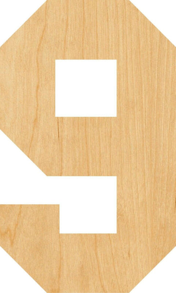 Number 9 Wooden Laser Cut Out Shape - Great for Crafting - Hobbyist - D.I.Y. Projects